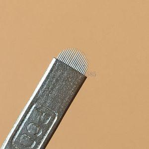 100 Adet Dövme İğneler PCD U Şekli 18 Pin Kalıcı Makyaj Kaş Kaşları Için Nakış Bıçakları Nakış Microblading Dövme Kalem