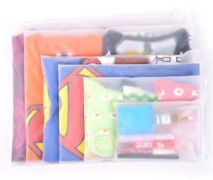 Zipper Lock Sacs D'emballage PE En Plastique Transparent Vêtements Accessoires Sac D'emballage Organisateur De Stockage À La Maison De Voyage Poche À Bagages Paquet Sacs Zip