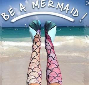 Europa und den Vereinigten Staaten platzen Socken Mermaid Persönlichkeit 3d Druck Socken individuelle, große Kinder Strand Socken