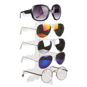 Moda Cinque coppie occhiali Stand Sunglassess Holder Homehold Organizer Occhiali da sole Rack Uomo donna Occhiali Display mensola