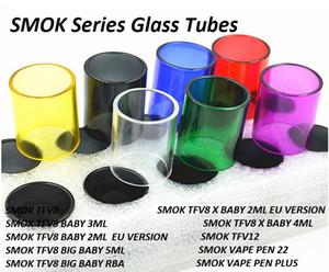 Pyrex Tubes de rechange en verre pour TFV8 X Baby 2ML 3ML 4ML Big Baby Beast 5ML TFV12 Prince Vape Pen 22 Plus Tank