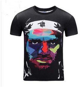 3D Print James Basketball Player Star Men Creative T-shirt Fashion Artistic Figure Portrait Print Short Sleeve Tees Casual Women Couples