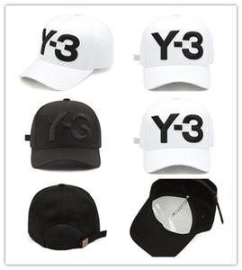 Livraison gratuite 2017 New Y3 Dad Hat Big Logo brodé Téméraire Hip Hop Casquette de baseball réglable Strapback Chapeaux Y3