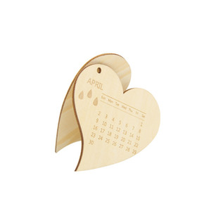 12 Unids / set Nuevo Laser Cut Heart Save The Date Calendario Home Decor Hanging Invita Boda Nupcial Ducha Decoraciones Favores Personalizados