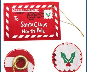 Eco Friendly New Red 18Pcs / Lot Weihnachten Umschlag Weihnachten Karten Candy Bag Perfekte Weihnachtsgeschenke für Freunde