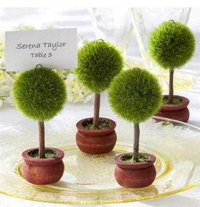 Favor de la boda Verde Bonsai Place Card Holder Ronda y en forma de corazón Photo Holder DHL Envío Gratis