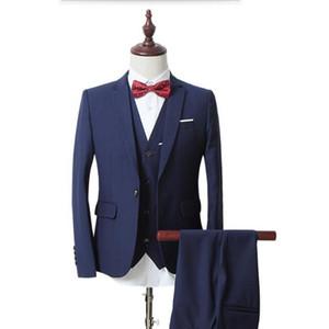 2017 디자인 남자 정장 3 조각 정장 비즈니스 패션 남자의 결혼식 정장 턱시도 고품질 남성 정장 (재킷 + 조끼 + 바지)