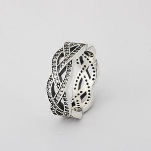 Un argento all'ingrosso 925 anello di diamante lucido cz anello di diamanti fit pandora zirconia gioielli anniversario per le donne regalo di natale