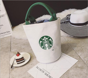 Vendita calda-Donne Famous Starbucks Carino Shopping Borsa Ladies Fashion Brand Designer Lunch Bag Spedizione gratuita di alta qualità Canvas Tote