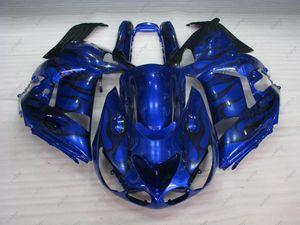 Carrozzeria ZZ-R1400 2006 Carene in plastica ZZR 1400 06 07 Blue Black Flame Fairing Kit Zx14 Zx-14r 2009 2006 - 2011