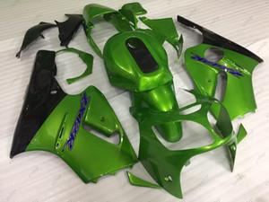 Carene in plastica Zx-12r 00 01 Carenatura in ABS Zx12r 01 Kit carenatura in verde nero per Kawasaki Zx12r 2001 2000 - 2001