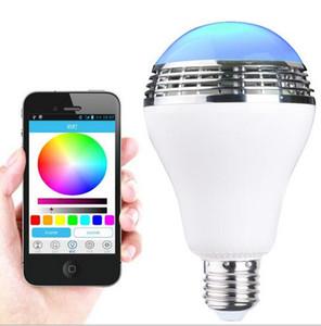 2017 nuova novità led rgb lampadina senza fili bluetooth LED E27 altoparlante per iphone samsung smartphone regolabile controllabile luce LED