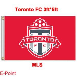 Toronto FC Major League Soccer MLS Polyester Flagge Banner 3ft * 5ft (90cm * 150cm)