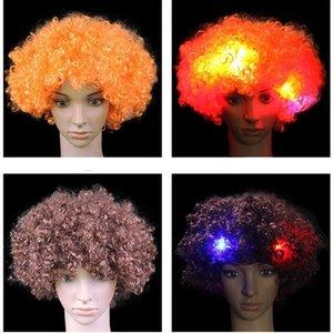 Cosplay blinkt Perücken LED-Blitz Kopfschmuck Spaß Partei Perücken kurze Perücken Masquerade Halloween Weihnachten Karnevalsk Explosion Kopf