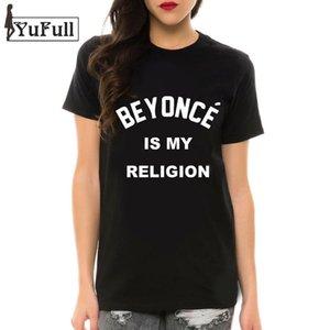 BEYONCE all'ingrosso è il mio 2016 nero estivo T-shirt stampa della lettera Camisetas Feminina tee shirt Femme T camicia più di formato della signora Tops