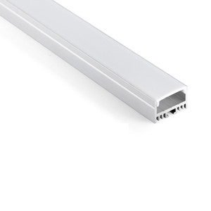10 x 1m sets / lot perfil de alumínio Al6063 T6 para tiras de LED e perfil de prata anodizado alumínio LED para lâmpadas de paredes ou de tetos