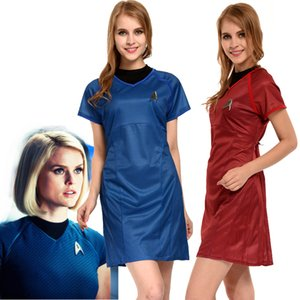 Kukucos Movie Figure Star Trek Into Dark Marcus Robe bleue Costume Cosplay Womens Summer Dress Sexy Suit