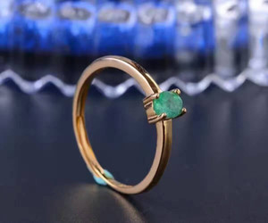 Promotion natural emerald wedding ring for woman 0.2 ct 3mm*2mm natural Colombian emerald solid 925 silver emerald gemstone ring