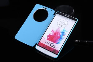 LG g3 Quick Shell Smart Circle View Auto Sleep Sleeve Flip Cover Leather Phone Holster Case For LG G3