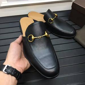 Pantofole da uomo High-end in pelle di alta qualità personalizzata come agio e traspirante in pelle nera Hanno un sacco di personalità