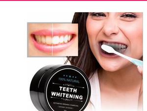 denti di grado alimentare polvere di bambù dentifricio Oral Care Igiene pulizia naturale attivato organico di carbone di noce di cocco conchiglia dente Yellow Stain