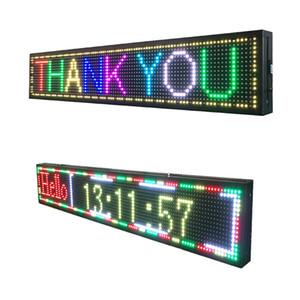 P10 al aire libre pantalla LED USB programable texto completo de color tablero de mensajes correr tablero de la muestra llevada electrónica