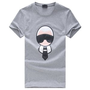 Top Quality Algodão de Manga Curta Carton Applique Casual Legal Homens Skate Camiseta 2017 Camisas Para Homens e Mulheres Modas de Camisa de T