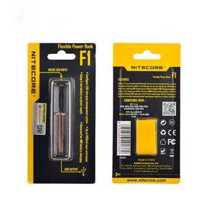 리튬 이온에 대한 충전 Nitecore F1 유연한 마이크로 USB 야외 전원 은행 스마트 배터리 충전기 / IMR 26650 18650 배터리