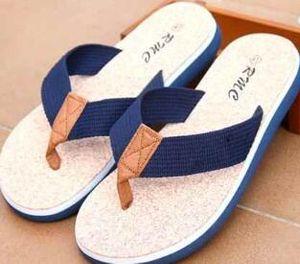 Summer Sandles Beach Shoes Brand New Long drop da uomo Unisex Moda Pantofole Beach Flip-flop Cuoio Pantofole Casual Pantofole Fresco 40-45