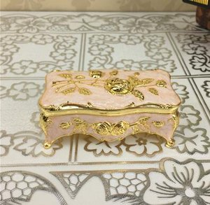 Wholesale- 2016 upscale jewelry storage box European-style storage box creative toothpick hoders cotton swab box fashion free shipping 454