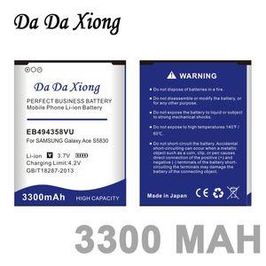 3300mAh EB494358VU аккумулятор для Samsung Galaxy Ace 5830 S6802 B7510 i569 i579 i619 S5660 S5670 S5830I S5838 S6102 S6108 S5830