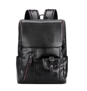 LIELANG Marka Erkek Sırt USB Şarj Hırsızlığa Karşı Okul Çantası Deri Seyahat Çantası Rahat Bagpack 14 Inç Dizüstü Sırt Çantaları Sırt Çantası