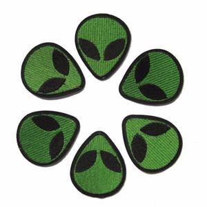 10pcs estrangeiro remendos emblemas UFO do punk para o ferro roupas bordadas ferro applique patch em manchas de costura Acessórios para roupas DIY
