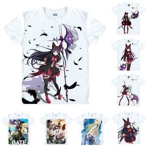 Camisa Anime Gate Jieitai Kano Chi Nite, Kaku Tatakaeri Camisetas Lolita Short Rory Mercury Cosplay Motivs Hentai Camisetas