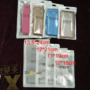 Zip Lock Bags Zipper Retail Package Clear Transparent Bag Cell Phone PARA iPhone 7 Samsung S8 Funda de plástico Bolsas de embalaje Hang Hole Pouches