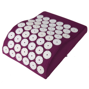Almofada massagem Acupressure tapete de aliviar o stress dor Acupuntura Pillow Pico Yoga Neck Dor principal Stress Relief Pillow