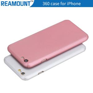 Cubierta de 360 grados CoverCase Full Hybrid Tempered Glass + Acrylic Hard Case para iPhone 7 7plus Funda para teléfono móvil