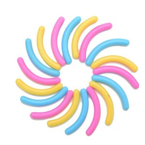 Wholesale-6PCS / 1 مجموعة المطاط الرموش دائرة حامي منصات رموش رمش بكرة الشعر استبدال للنساء makup تسليم عشوائي