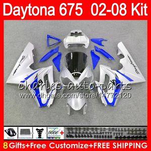 8 Regalos 23 colores para Triumph Daytona 675 02 03 04 05 06 07 08 Daytona675 blanco 4HM28 Daytona 675 2002 2003 2004 2005 2006 2007 2008 Carenado