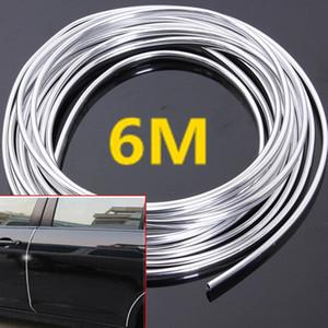 6m chrome moulure bande de garniture de voiture bord de la porte d'éraflure protège-bande de couverture de protection convient à la plupart des voiture universelle tous les modèles CDE_00L