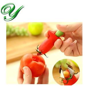 Erdbeere Huller Tomate Stem Remover Edelstahl Klaue Corer Top Blattschneider Messer Obst Gemüse Werkzeuge Kinder Küche Gadget Kreativ