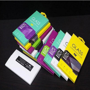 Colorful Personality Design Tempered Glass Screen protector Retail Package box for Cell phone accessiores by DHL