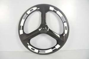 700C Tri Spoke Wheels Juego de ruedas de bicicleta de carbono Clincher ruedas de 3 radios de carbono Ruedas de cambio de carretera / fijas Juego de ruedas de HED.3