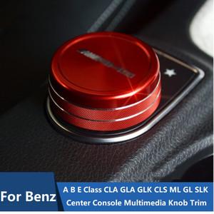 Couvercle de garniture de bouton multimédia multimédia de la console centrale AMG pour Mercedes-Benz A
