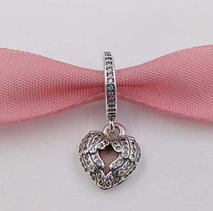 San Valentino regalo 925 Beads Silver Wings Angelo Charm Pendant Adatto monili dei braccialetti europeo di stile Pandora Collana 791737CZ