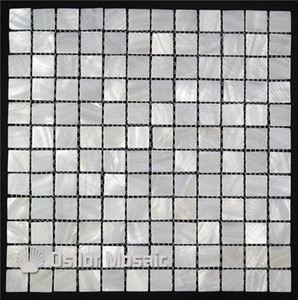 pure white color 100% Chinese freshwater shell mother of pearl mosaic tile for interior house decoration bathroom and kitchen wall tile