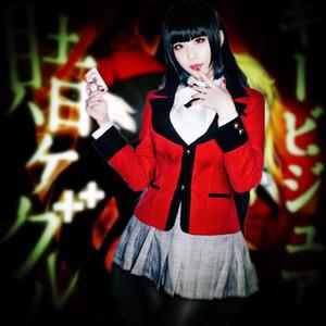 Costumes de cosplay Yumeko Jabami Robe en treillis Anime japonais Kakegurui - Vêtements de joueur compulsif Mascarade / Costumes de mardi gras / Carnaval