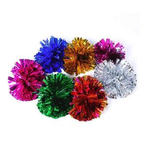 Pom Poms Cheerleading 50g Cheering Pompom Metallic Handle Flower Ball Show Party Festival Decoration Free Shipping ZA4900