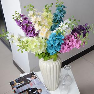Artificiale giacinto fiori fiori di seta grande soggiorno decorazione fiore larkspur decorazione di cerimonia nuziale 6 colori