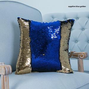 Sıcak Sequins Yastık Kılıfı Mermaid Yastık Kapak Kanepe Dekoratif Pillowslip 23 Türleri Tek taraflı Sequins 40x40 cm Yastık Kılıfı Toptan